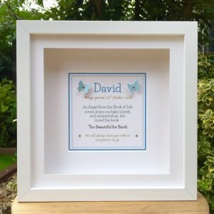 baby memorial frame remembrance frame