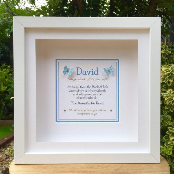 baby memorial frame remembrance frame