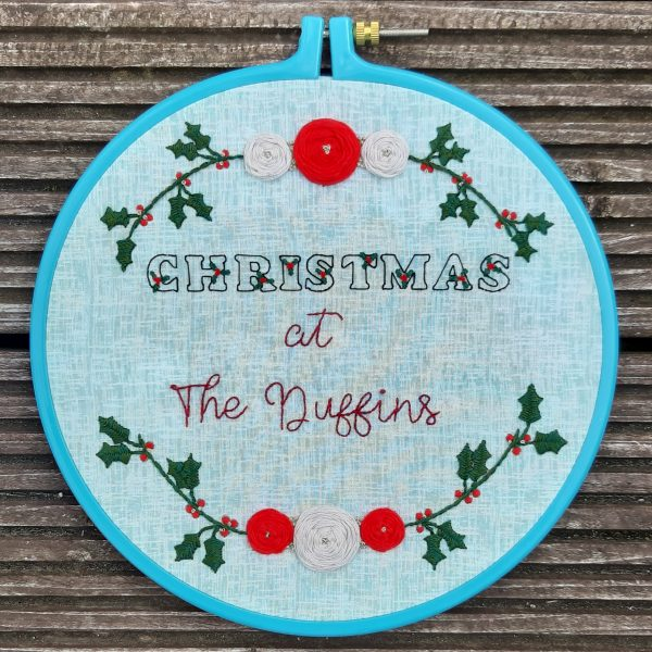 Personalised Christmas Embroidery Decoration