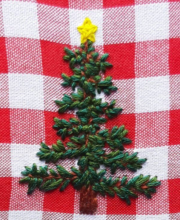 Christmas Tree embroidered decoration