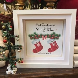 first christmas as mr&mrs personalised frame print