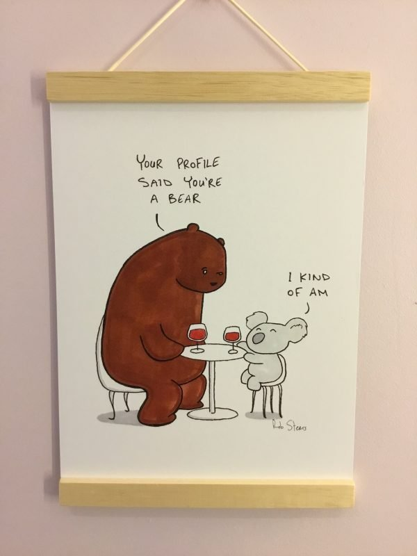 Bear With Me irish illustration by rob stears