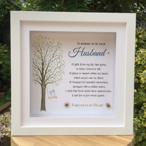 in memory of remembrance frame personalised gift