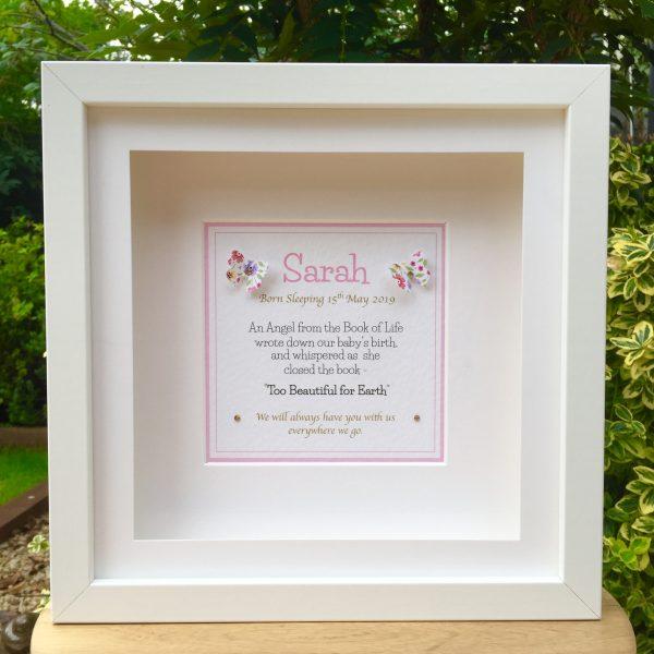 Baby Memorial Frame - Pink or Blue - F74D7A1E B81A 4D8A 92F8 1D6B9DF29785