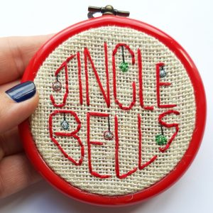 jingle bells christmas decoration embroidered