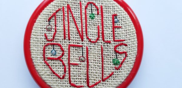 jingle bells embroidered christmas decoration