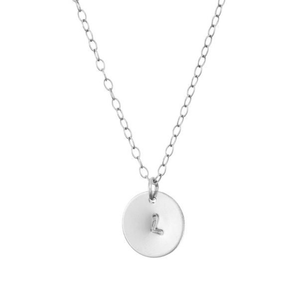 personalised pendant initial silver chain