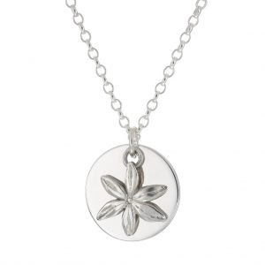 personalised silver chain with daisy charm