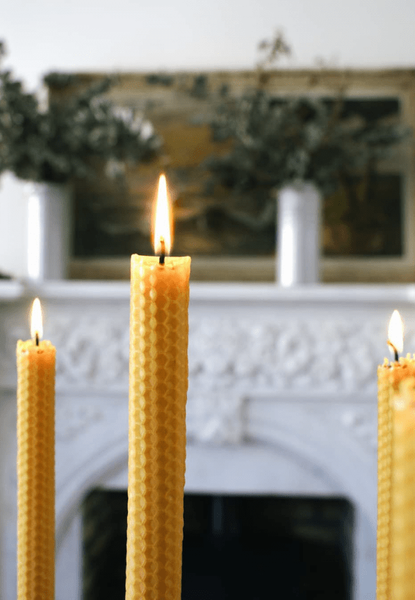 Hand-rolled Beeswax Dinner Candles -
