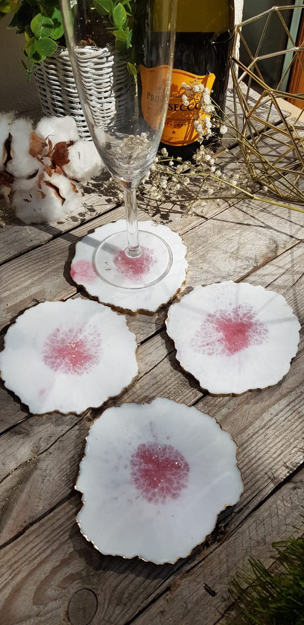 White and Pink Resin Coasters - 20190918 122921 scaled