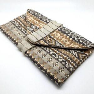 Patterned Envelope Clutch Bag