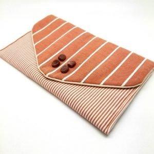 Rust Brown Envelope Clutch Bag