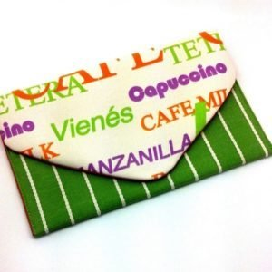 Coffee Shop Envelope Clutch Bag