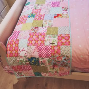 Colourful Quilted Bed Runner