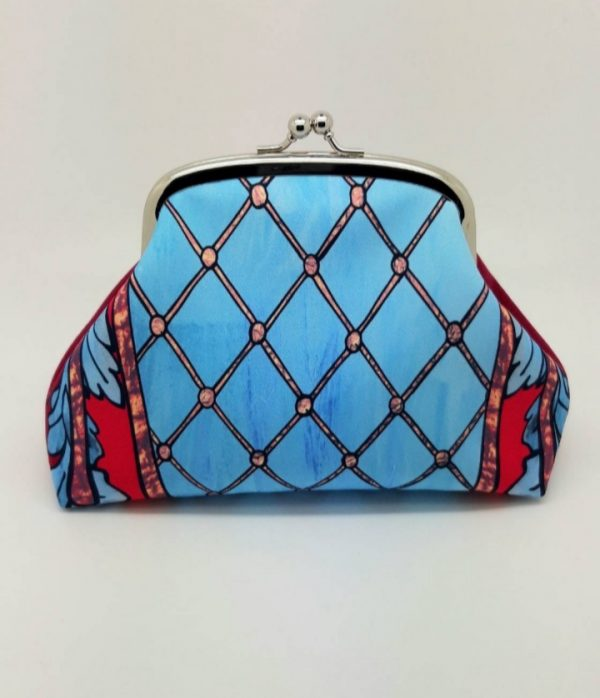 Blue Trellis Kisslock Clutch Bag - 20191127 110616