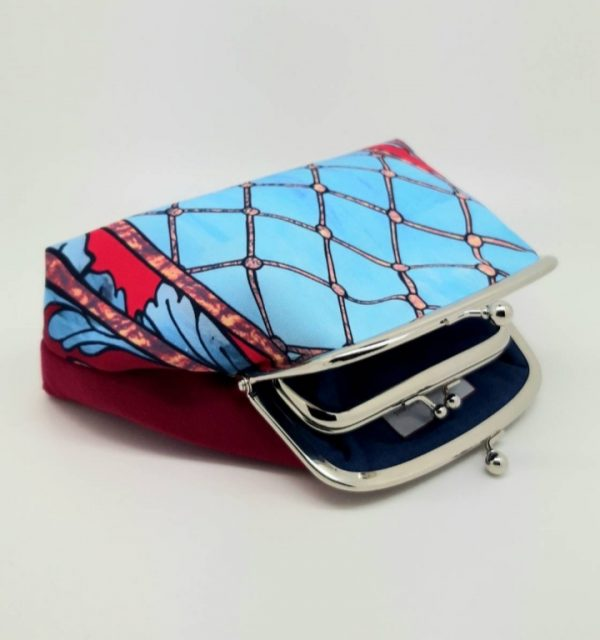 Blue Trellis Kisslock Clutch Bag - 20191127 110629