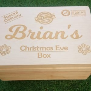 Christmas Eve Box personalised wooden