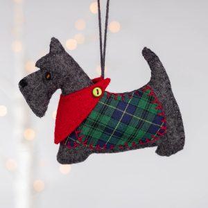 Dougal the Scottie Dog Felt Ornament