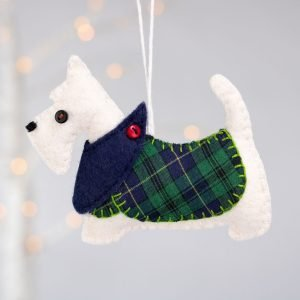 Scottie Dog Felt Ornament