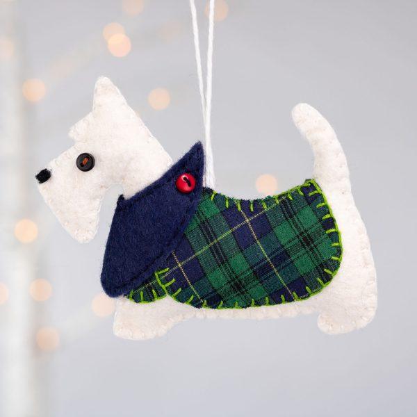 Scottie Dog Felt Ornament