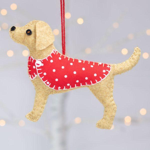 Bailey the Labrador Felt Ornament