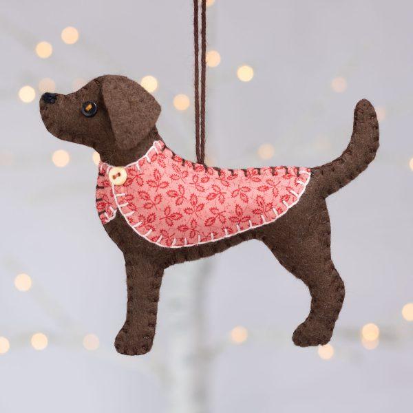 Bella the Labrador Felt Ornament