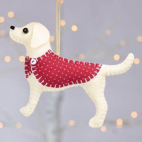Daisy the Labrador Felt Ornament