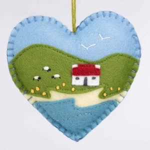 Irish cottage heart ornament