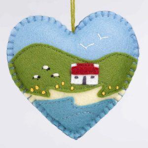 Irish cottage heart ornament