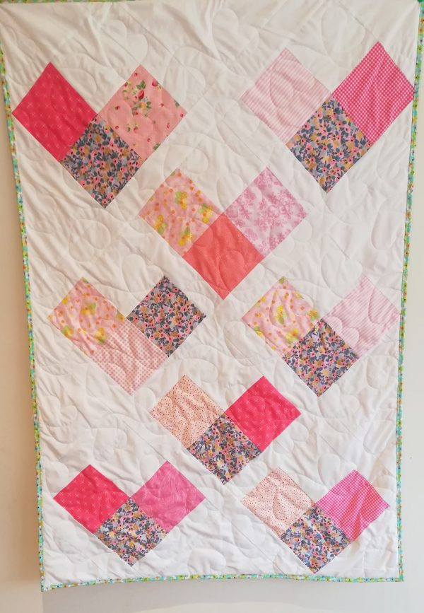 Love Hearts Quilt with Designer Line Fabrics - IMG 20191110 122420 01 scaled