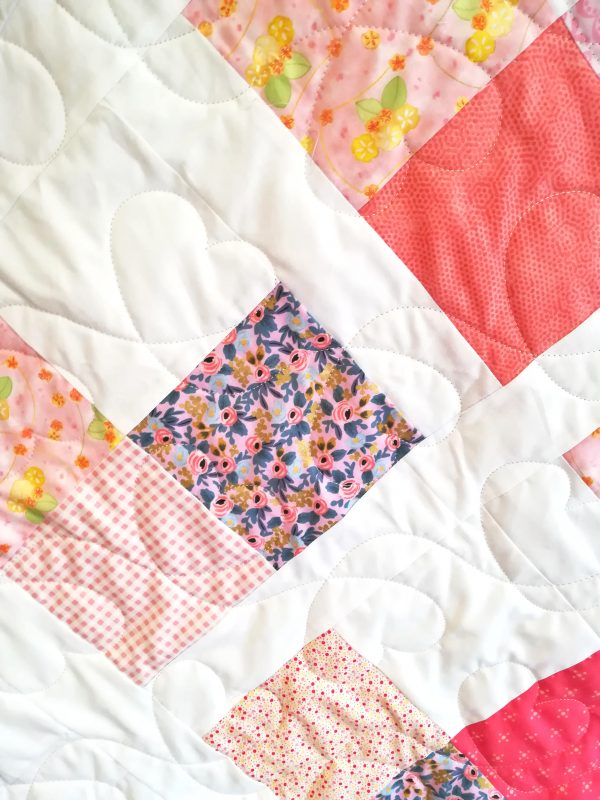 Love Hearts Quilt with Designer Line Fabrics - IMG 20191110 122427 02 scaled