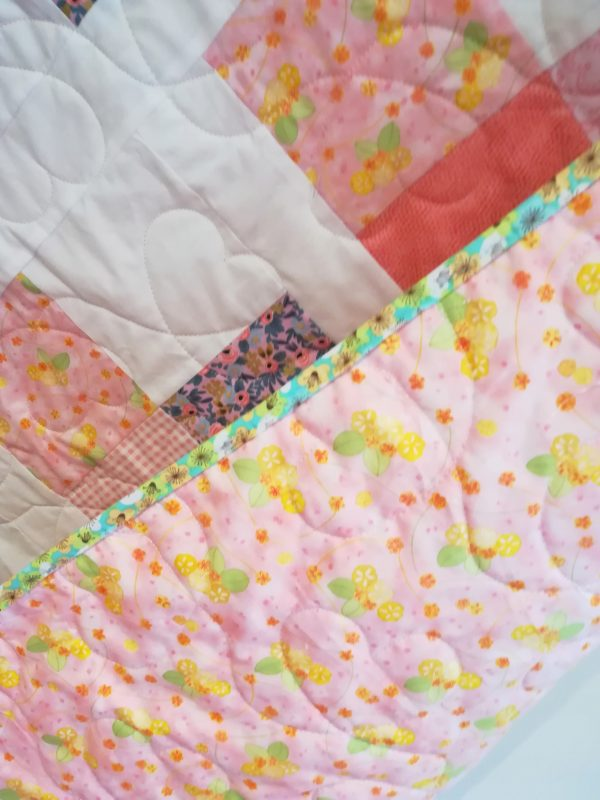 Love Hearts Quilt with Designer Line Fabrics - IMG 20191110 122435 01 scaled
