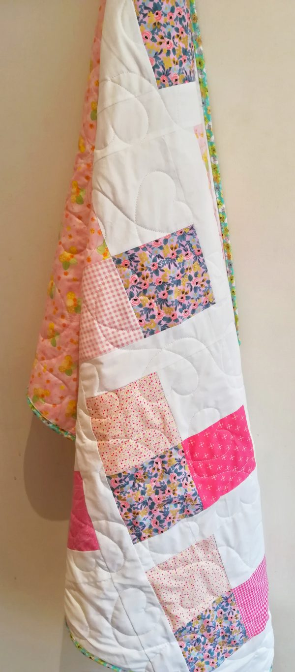 Love Hearts Quilt with Designer Line Fabrics - IMG 20191110 122500 01 scaled