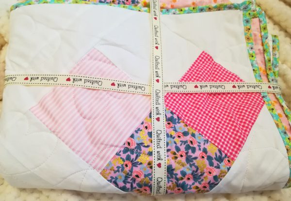 Love Hearts Quilt with Designer Line Fabrics