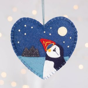Skellig Puffin Felt Ornament
