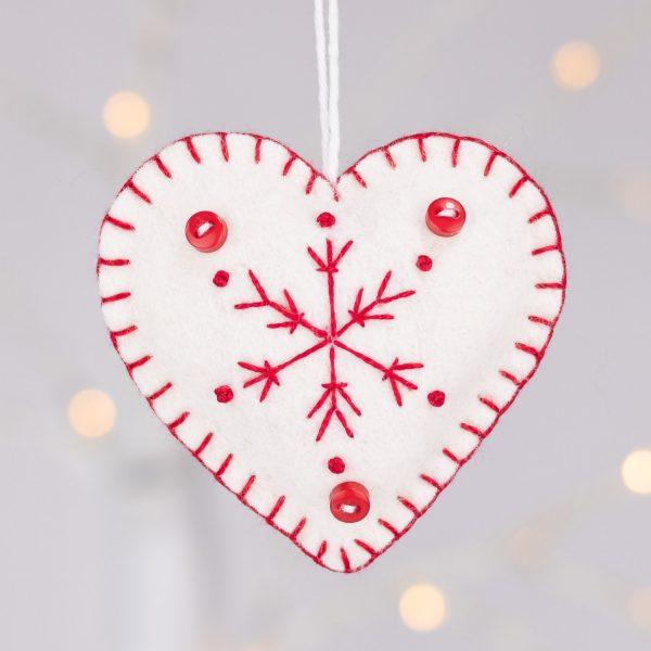 Snowflake Heart Christmas Ornaments - IMG 2329