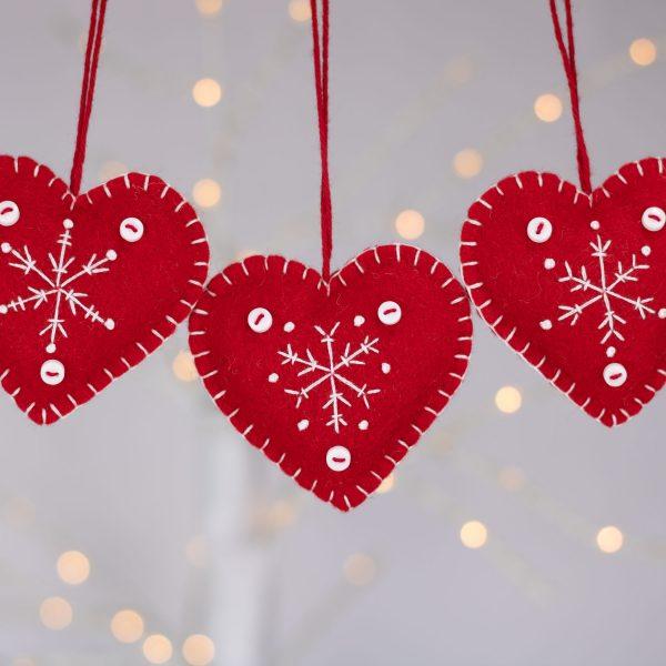 Snowflake Heart Christmas Ornaments - IMG 2334