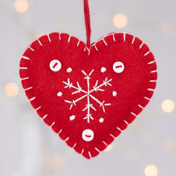 Snowflake Heart Christmas Ornaments - IMG 2336