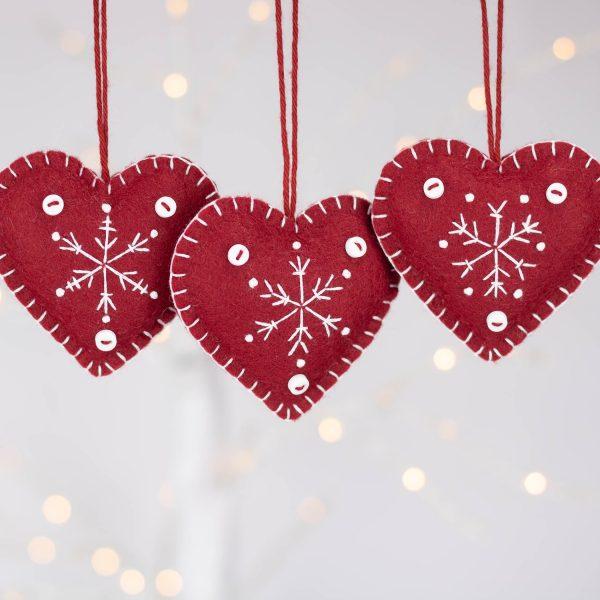Snowflake Heart Christmas Ornaments - IMG 2338