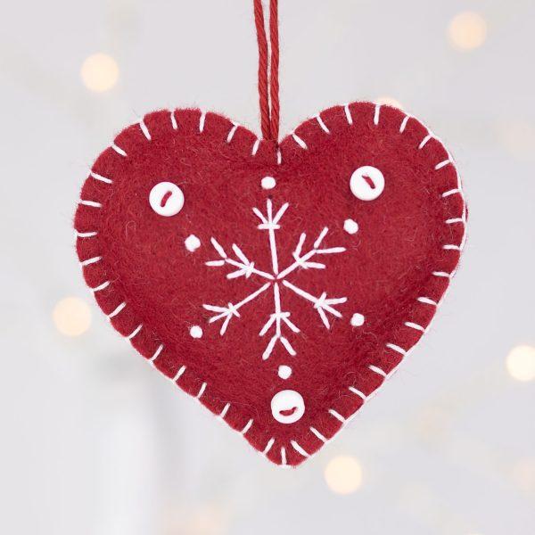 Snowflake Heart Christmas Ornaments - IMG 2342