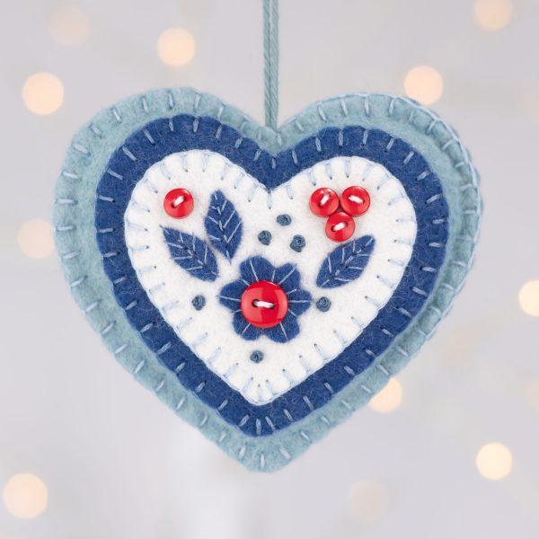 Berry Heart Christmas Ornament