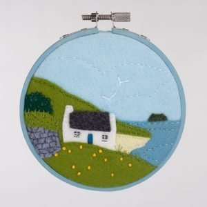 Blasket Cottage Felt Embroidery