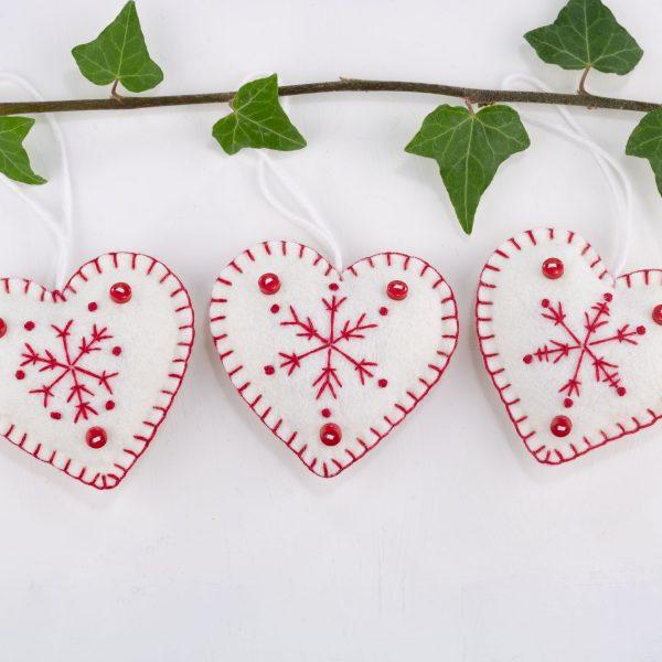 Snowflake Heart Christmas Ornaments - IMG 2596