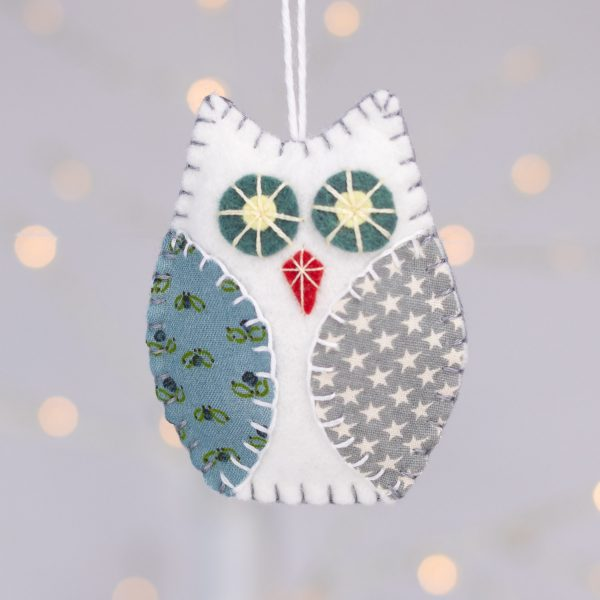 Scandi Style Owl Christmas Ornaments