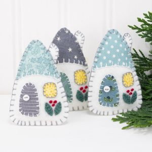 Scandi Style Little House Ornaments