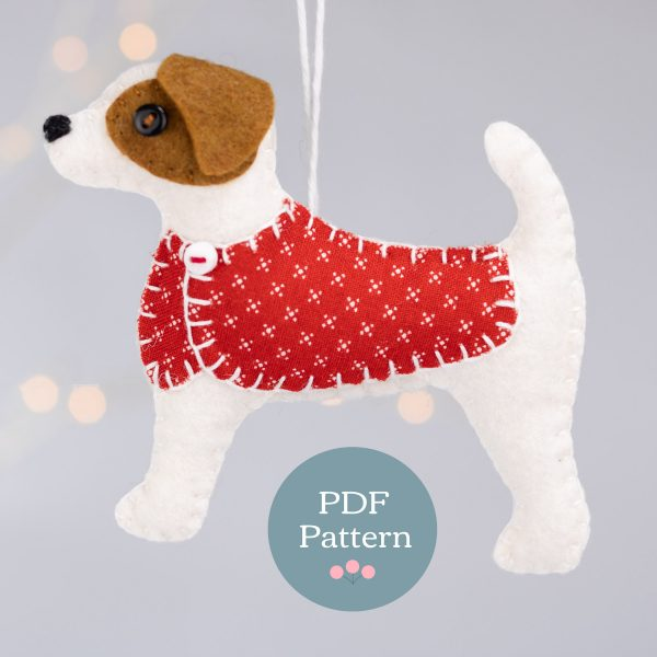 Sewing Pattern - Jip the Jack Russell Felt Ornament - Jip pattern WK