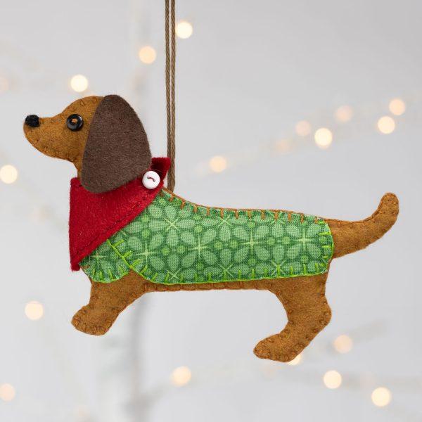 Dachshund Felt Ornament