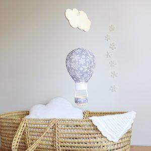 Snowflakes Balloon Personalised Wall Hanging