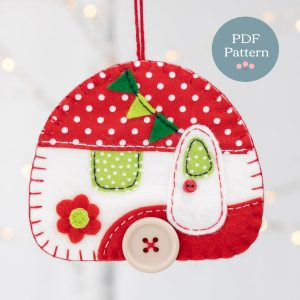 Sewing Pattern - Vintage Caravan Felt Ornament