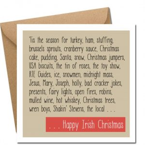 Happy Irish Christmas card